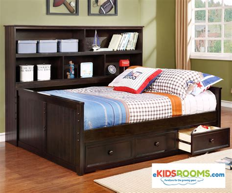 Daybed Bookcase by Size Bookcase Captains Daybed Graphite Allen House