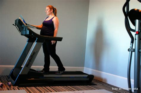 stay at home ista exercise and pregnancy a treadmill