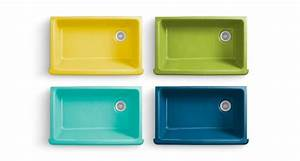 love these colorful enameled cast-iron sinks from