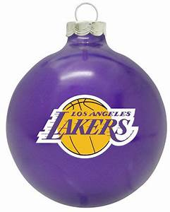 Los Angeles Lakers Solid Color Christmas Ornament SWIT