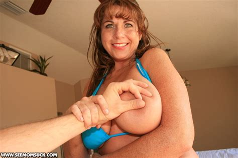 Naughty Milf In Bikini Lets Lucky Guy To Play With Her Big