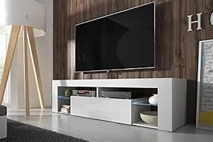 Tv Schrank Weiß Matt : hestia tv lowboard tv schrank 140 cm wei matt wei hochglanz optional mit led ~ Bigdaddyawards.com Haus und Dekorationen