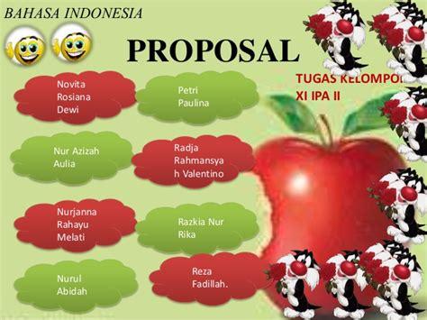 materi proposal indonesia kelas xi