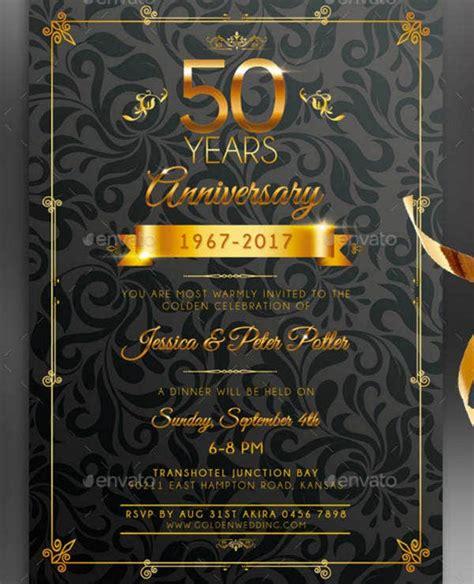 anniversary invitation designs templates psd