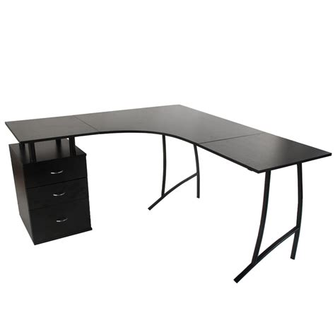 large corner computer desk life carver l shape large corner computer desk pc table