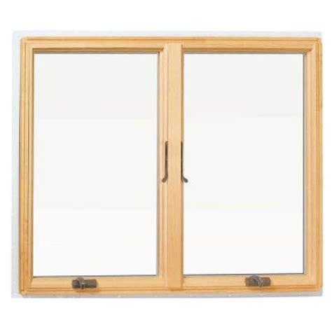 andersen       series casement wood window white   home depot