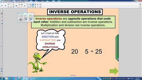 bureau inversé multiplication division inverse operation winter