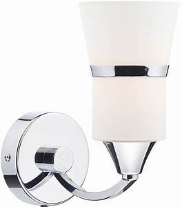 dar dublin modern switched led single wall light chrome With outdoor wall lights dublin