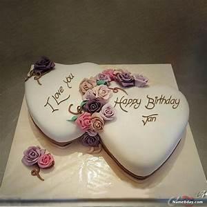 Happy, Birthday, Jan, Image, Of, Cake, Card, Wishes