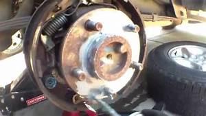 Simple  Clean Adjust Rear Brake Shoes Jeep Cherokee