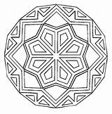 Mandala Coloring Pages Square Easy Printable Getcolorings sketch template