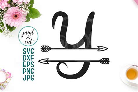 divided tribal monogram letter  split font  arrows