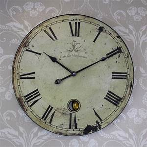 Vintage clock extra large french style clock melody maisonr for Vintage french wall clocks