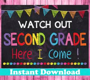 First Day of Second Grade Printable Sign
