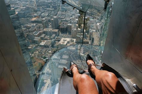 us bank tower observation deck slide breaks ankle on u s bank tower slide in los angeles