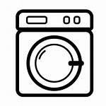 Laundry Icon Washing Icons Machine Flat Logos