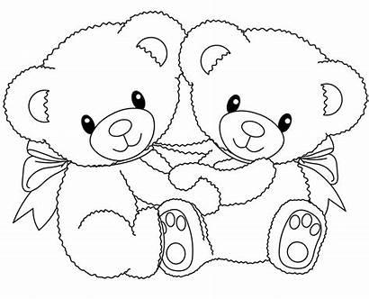 Hug Coloring Pages Bear Printable Getcolorings