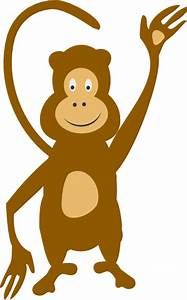 Monkey Waving Clip Art at Clker.com - vector clip art ...