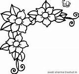 Coloring Flowers Flower Border Drawing Frame Printable Jasmine Printables Borders Treehut Colouring Vine Tracing Clipart Floral Embroidery Outline Patterns Sheets sketch template