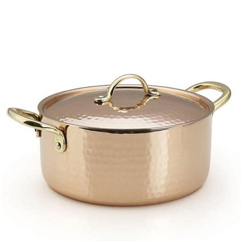 kuprum hand hammered solid copper multi purpose sauce soup  chili pot  qt quickly