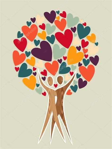 family tree  love stock vector  cienpies