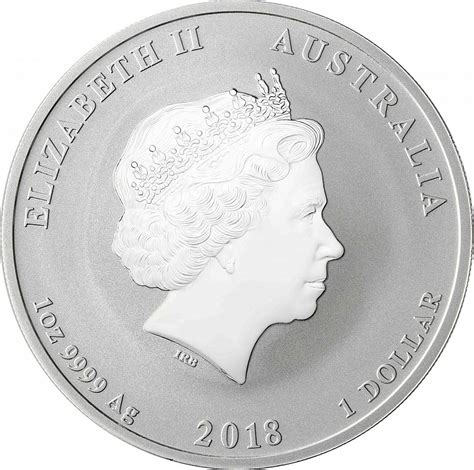 2018 Jahr Des Hundes Farben by 1 Oz Silver Australian Year Of The 2018 Silver Coin