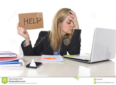 computer help desk jobs young beautiful business woman suffering stress working at