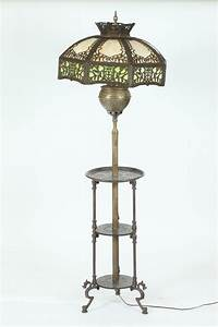 victorian brass two light floor lamp with paneled metal och With edwardian brass floor lamp