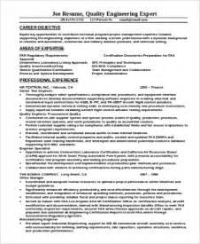 quality engineer resume pdf sle engineer resume 9 exles in word pdf