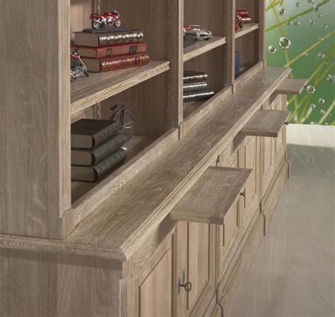 bureau reglable bibliothèque 2 corps 6 portes alix en chêne massif de