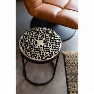 Table D Appoint Metal : table d 39 appoint design m tal grav sari by drawer ~ Teatrodelosmanantiales.com Idées de Décoration