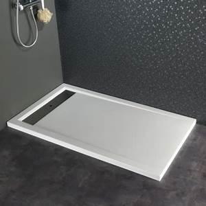 Receveur A Carreler 140x90 : receveur extra plat poser design 80x140 blanc 523030 ~ Edinachiropracticcenter.com Idées de Décoration