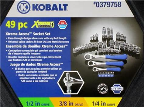 kobalt xtreme access 49 pc pass through 1 2 3 8 1