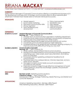 Resume For Assistant Manager Position by Managers Resume Sle Diplomatic Regatta