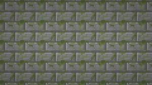 Minecraft: Moss Stone Brick Textured Wallpaper by elbarnzo ...