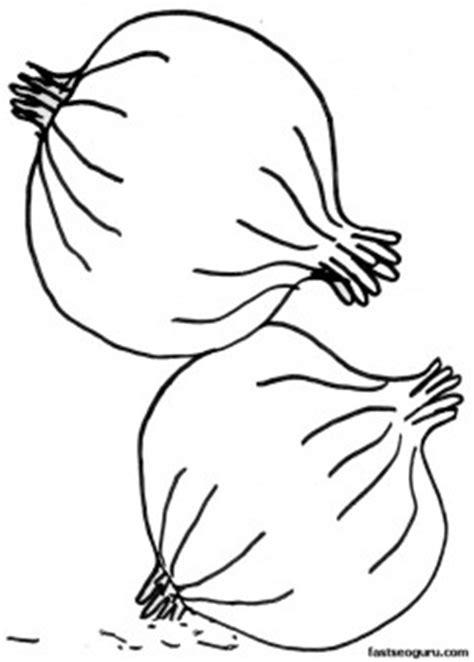 printable vegetable onion coloring page printable