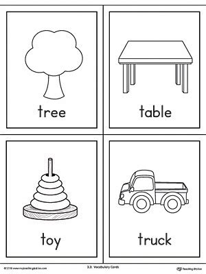 words with letter t letter t words and pictures printable cards tree table 25759 | Beginning Sound Words Printable Flash Cards Letter T