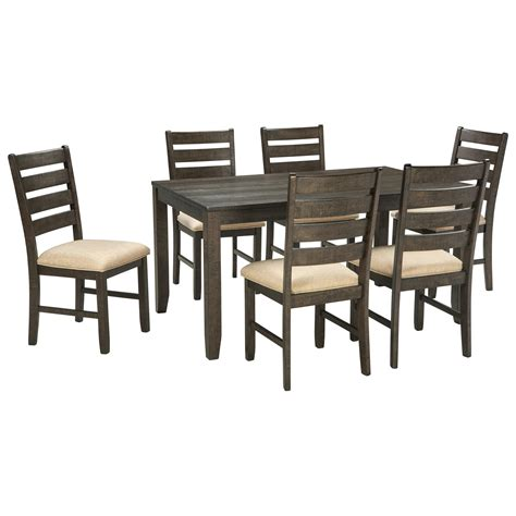 7 dining set with bench contemporary 7 dining room table set by signature