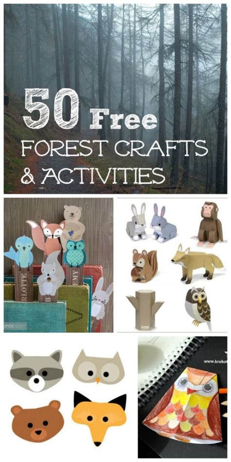 50 free forest animal crafts amp activities printables for 877 | d7c89be06e68e9e68f7de81d760b49b5