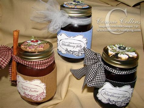 constantly stamping decorated jam jars