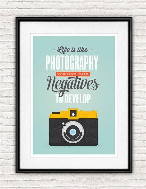 inspirational quote retro camera poster life