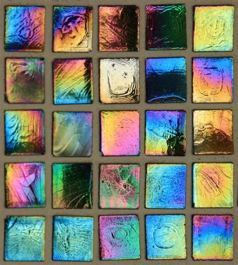 multi colored iridescent glass tile wallpaper