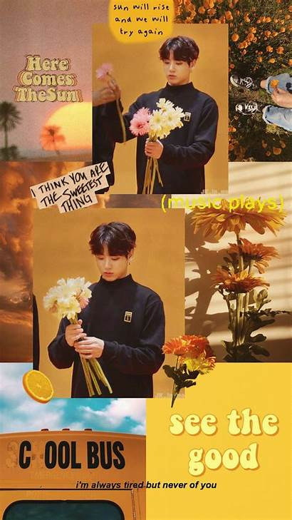 Aesthetic Yellow Wallpapers Tired Always Jungkook Jeon