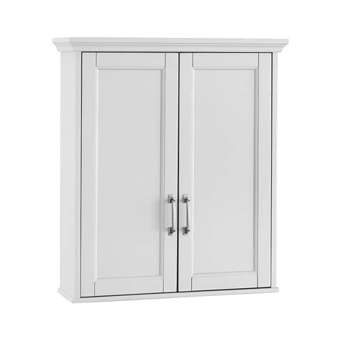 small white bathroom wall cabinet foremost ashburn 23 1 2 in w x 27 in h x 8 in d