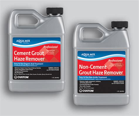 cement and non cement grout haze removers coverings