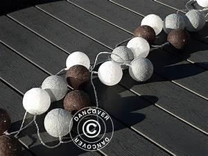 Guirlande Boule Coton : guirlande boule coton led taurus 30 led cama eu de noir dancovershop fr ~ Teatrodelosmanantiales.com Idées de Décoration