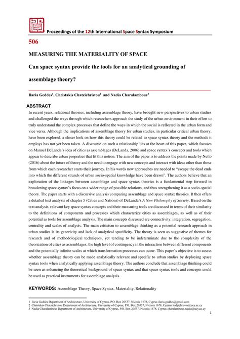 measuring  materiality  space  space syntax