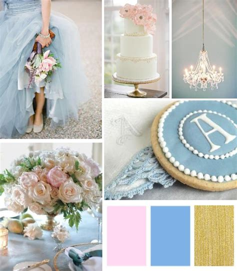 grey and white chevron color inspiration dusty blue blush pink gold palette