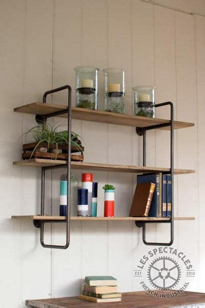 industrial pipe wood shelving unit small home