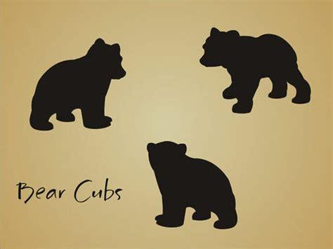 Stencil Bear Cub Shape Rustic Animal Mountain Outdoor